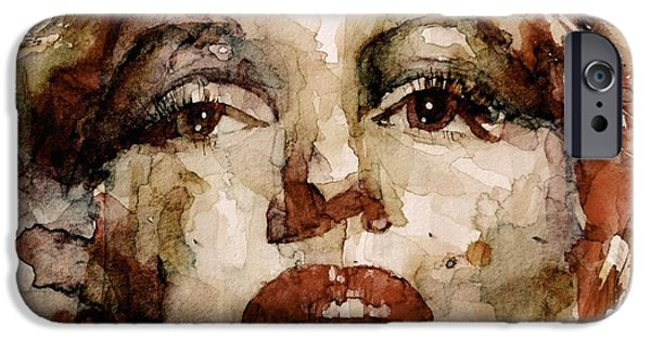 Marilyn Portrait iPhone Cases - Marilyn iPhone Case by Paul Lovering