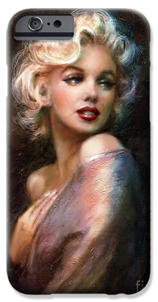 Birthday iPhone Cases - Marilyn romantic WW 1 iPhone Case by Theo Danella