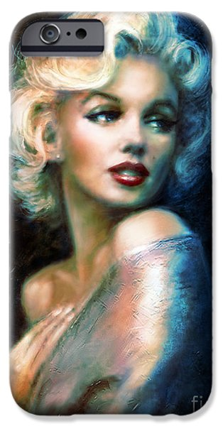 Theo Danella iPhone Cases - Marilyn romantic WW 6 A iPhone Case by Theo Danella