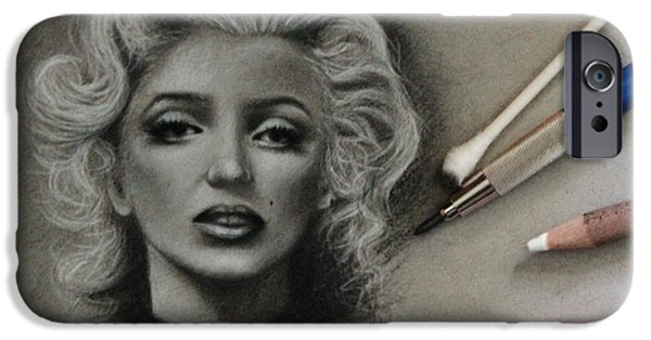 1950s Movies Mixed Media iPhone Cases - Marilyn iPhone Case by Samantha Howell
