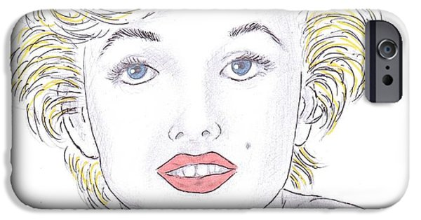 Steven White iPhone Cases - Marilyn iPhone Case by Steven White
