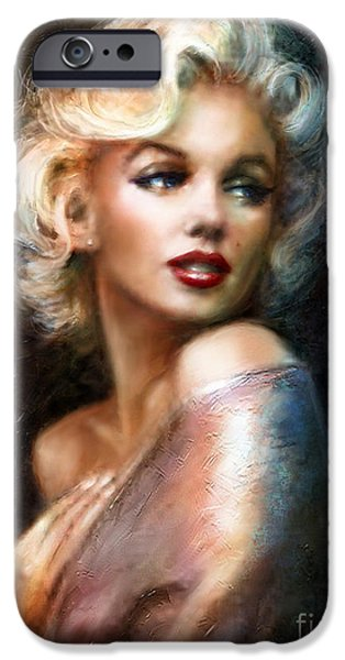 Theo Danella iPhone Cases - Marilyn WW classics iPhone Case by Theo Danella