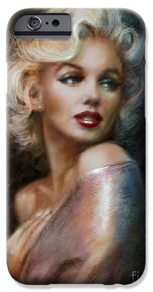 Theo Danella iPhone Cases - Marilyn WW soft iPhone Case by Theo Danella
