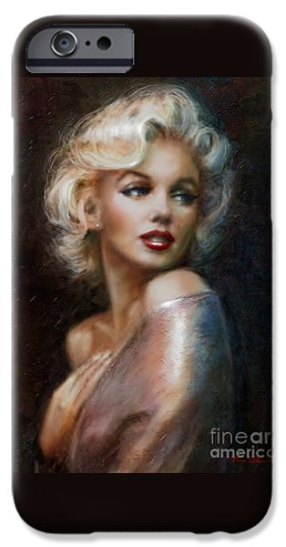 Lips iPhone Cases - Marilyn WW soft iPhone Case by Theo Danella