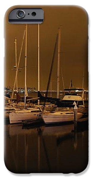 Marina at Night iPhone Case by Jenny Hudson