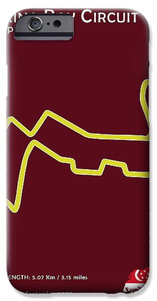 Circuit Photographs iPhone Cases - Marina Bay Circuit iPhone Case by Mark Rogan