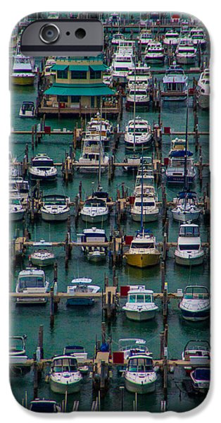 Sailboats iPhone Cases - Marina Maze Miami iPhone Case by Patti Deters
