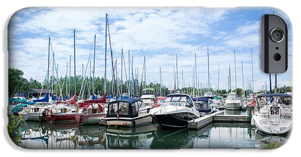 Sailboats iPhone Cases - Marina iPhone Case by OneTwo Photography