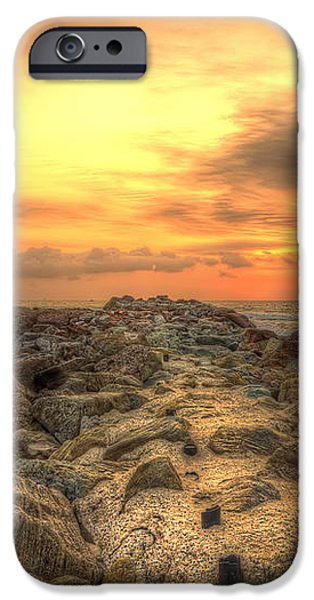 Marina Park Beach Sunset iPhone Case by Eddie Yerkish