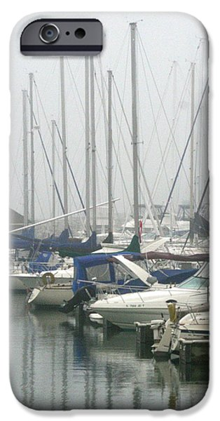 Chicago iPhone Cases - Marina Reflections iPhone Case by Kay Novy