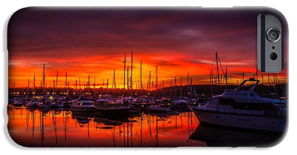 Chatham iPhone Cases - Marina Sunset iPhone Case by Dawn OConnor