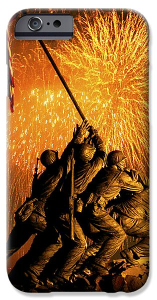 4th July iPhone Cases - Marine Corps War Memorial iPhone Case by Government Photographer