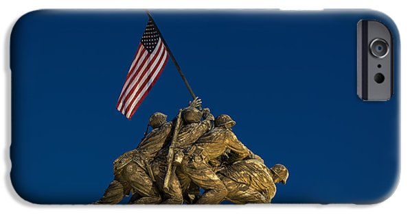 D.c. iPhone Cases - Marine Corps War Memorial iPhone Case by John Greim