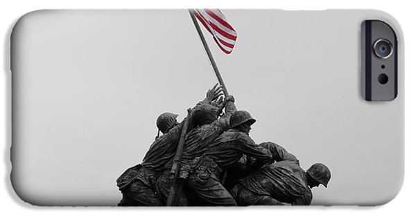Cemetary iPhone Cases - Marine Corps War Memorial iPhone Case by Tyler Dubuque