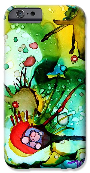 Alga iPhone Cases - Marine Habitats iPhone Case by Jolanta Anna Karolska