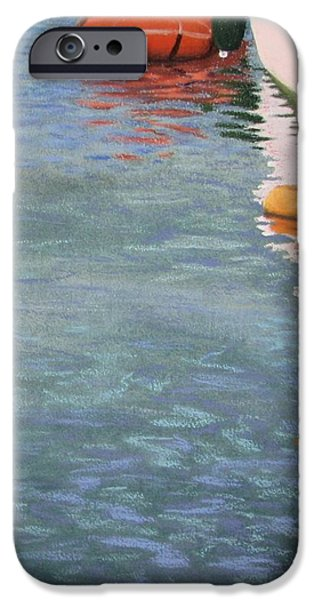 Marine Pastels iPhone Cases - Marine reflections iPhone Case by Serena Dawson