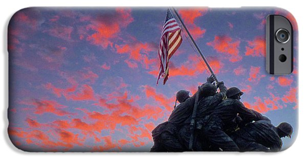 Arlington iPhone Cases - Marines at Dawn iPhone Case by JC Findley