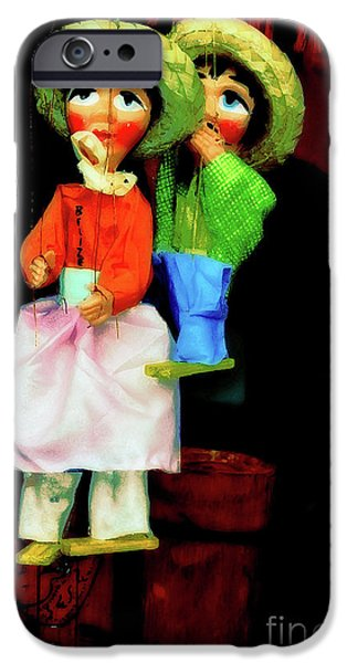 Toy Shop Digital iPhone Cases - Marioneta iPhone Case by Molly McPherson