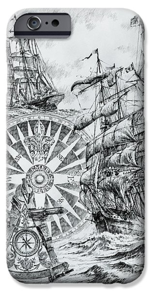 Tall Ship iPhone Cases - Maritime Heritage iPhone Case by James Williamson