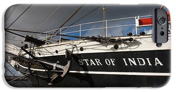 Tall Ship iPhone Cases - Maritime Museum On A Ship, Star iPhone Case by Panoramic Images