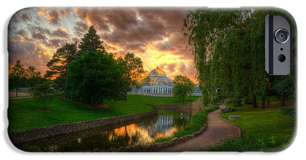 Minnesota iPhone Cases - Marjorie Mcneely Conservatory Reflections iPhone Case by Wayne Moran