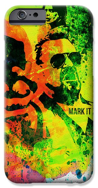 Tv Show iPhone Cases - Mark it Zero Watercolor iPhone Case by Naxart Studio