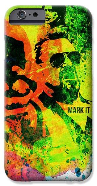 Actor Paintings iPhone Cases - Mark it Zero Watercolor iPhone Case by Naxart Studio