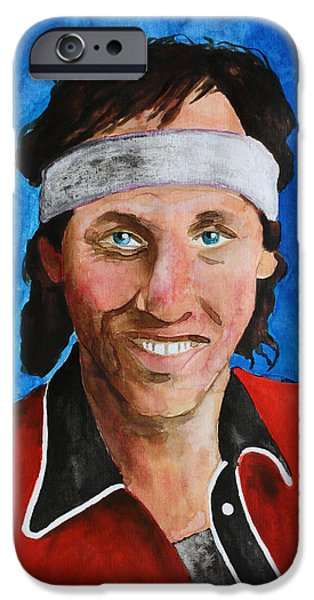 Legendary Music Singers iPhone Cases - Mark Knopfler - Dire Straits iPhone Case by Dan Haraga