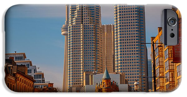 Business Photographs iPhone Cases - Market Town Toronto iPhone Case by James Canning