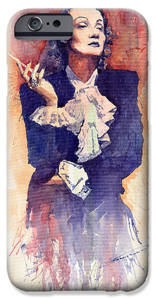 Marlen Dietrich  iPhone Case by Yuriy  Shevchuk