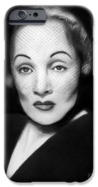Photorealistic iPhone Cases - Marlene Dietrich iPhone Case by Peter Piatt