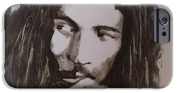 Musican Drawings iPhone Cases - Marley iPhone Case by Julie Hollis