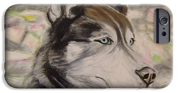 Huskies Pastels iPhone Cases - Marley iPhone Case by Therese Legere
