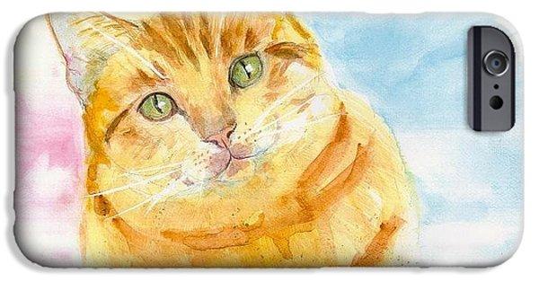 Eva Marie iPhone Cases - Marmalade Cat iPhone Case by Eva Marie Tanner-Klaas