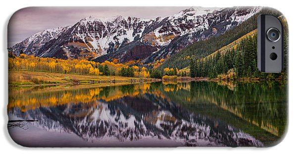 Tree Art Print iPhone Cases - Maroon Lake iPhone Case by Darren  White