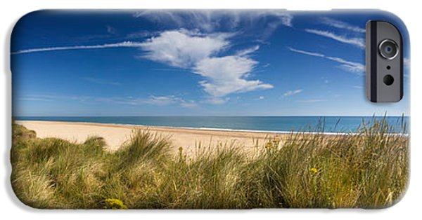 North Sea iPhone Cases - Marram Grass, Dunes And Beach iPhone Case by Panoramic Images