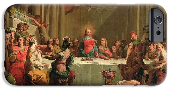 Miracle iPhone Cases - Marriage feast at Cana iPhone Case by Gaetano Gandolfi