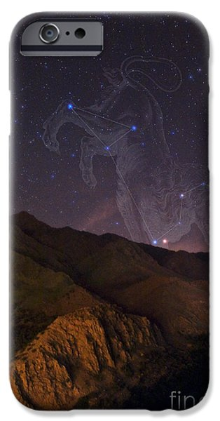 Constellations iPhone Cases - Mars And Regulus In Leo iPhone Case by Babak Tafreshi