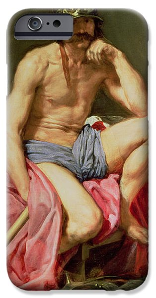 Mythological iPhone Cases - Mars iPhone Case by Diego Velazquez