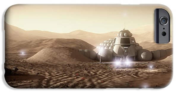 Mars iPhone Cases - Mars Habitat - Valley End iPhone Case by Bryan Versteeg