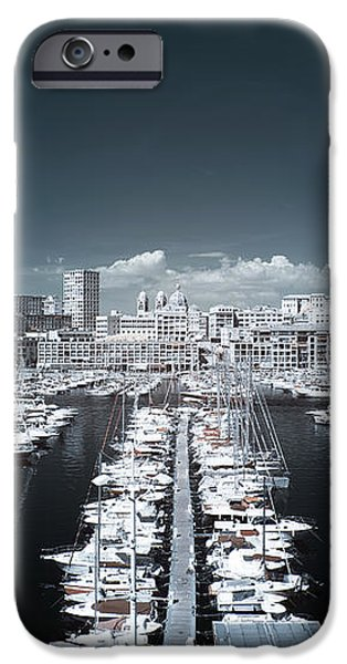 Marseille Blues iPhone Case by John Rizzuto