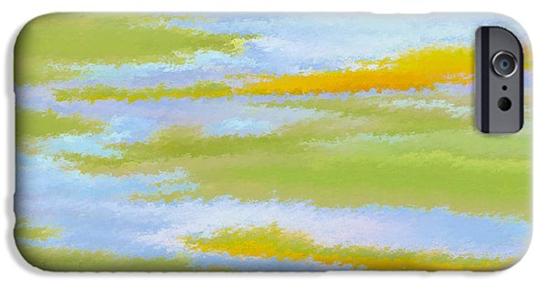 Coastal Decor Digital iPhone Cases - Marsh Landscape iPhone Case by Ben and Raisa Gertsberg