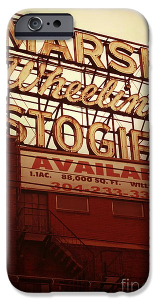 Industry iPhone Cases - Marsh Stogies Sign iPhone Case by Jim Zahniser