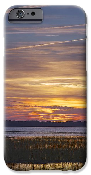 Marsh Sunset iPhone Case by Phill  Doherty