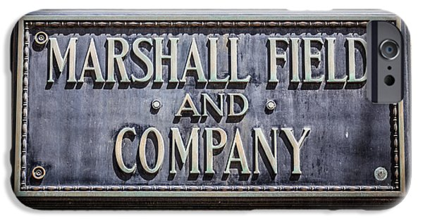 Recently Sold -  - Buildings iPhone Cases - Marshall Field and Company Sign in Chicago iPhone Case by Paul Velgos