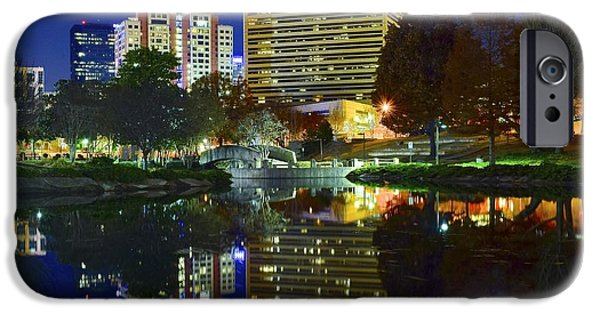 Charlotte iPhone Cases - Marshall Park Reflection iPhone Case by Frozen in Time Fine Art Photography