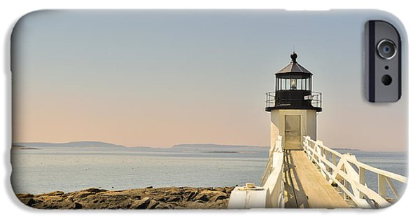 Midcoast iPhone Cases - Marshall Point Lighthouse Maine iPhone Case by Marianne Campolongo