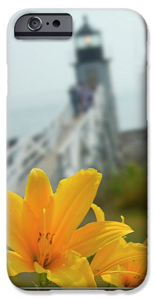 Maine iPhone Cases - Marshall Point Lighthouse  iPhone Case by Mike McGlothlen