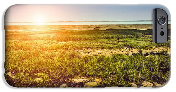 Sailboat Ocean iPhone Cases - Marshland iPhone Case by Wim Lanclus