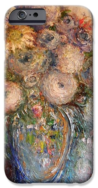 Marshmallow Flowers iPhone Case by Laurie D Lundquist